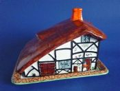 Rare John Maddock 'Rustic' Cottage Ware Cheese Dish c1930